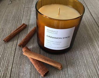CINNAMON STICK soy wax candle soy candle AromaVela Candle Co