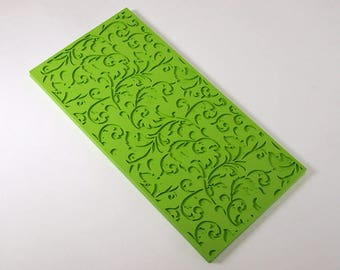 Texture sheet Fleur, Flexible polymer texture matt, Polymer Clay Texture Plate, Impression Stamp, Texture Stamp for soap