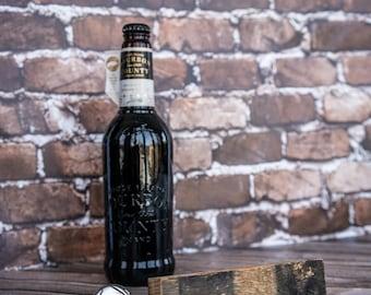 Ex-whisky stave beer bottle opener