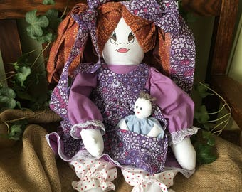 Rag doll with baby doll