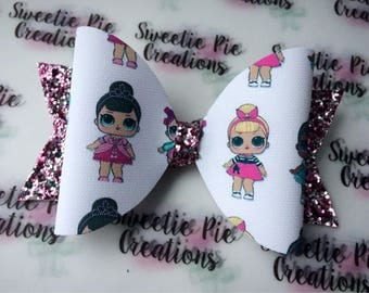 LOL doll - doll hair bow - hair accessories - headband - hair clip - girls bow - baby headband - lol dolls