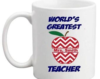 Personalized World's Greatest Teacher MUG