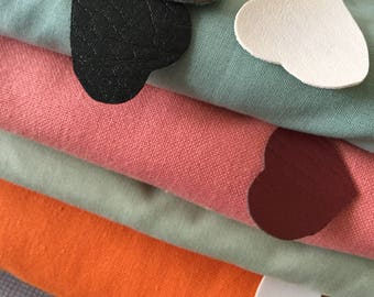 Cotton fabric blend, faux leather, denim, fabric upholstery leather.