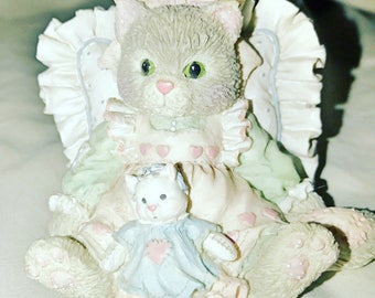 Calico kittens Enesco Friends are Cuddles of Love Figurine