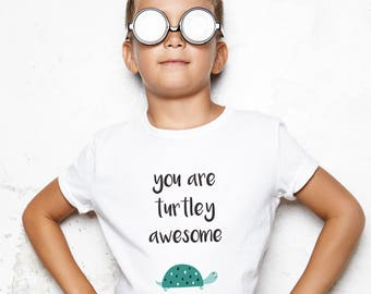 turtle gift, turtle shirt, turtle present, turtle themed gift, boys clothing, girls clothing, turtley awesome tshirt, modern design tee