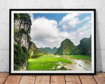 Ninh Binh Photo // Vietnam Nature, Asia Fine Art Print, Landscape Prints, Southeast Asia Wall Art, Photography of Asia, Asian Home Decor