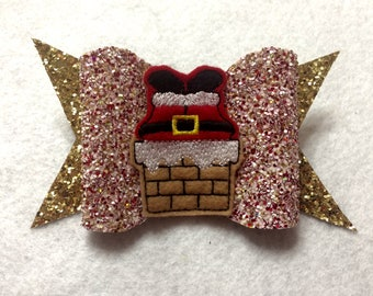 Jumbo Santa in Chimney Bow