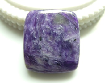 Charoite Rectangale Cabochon, 1 pec, Size- 29x26x6 MM, Natural Charoite , AAA,  Loose Gemstone, Smooth Cabochons.