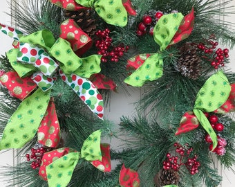 Christmas Pine Wreath, Pine Wreath, Pine Cone Wreath, Winter Wreath,