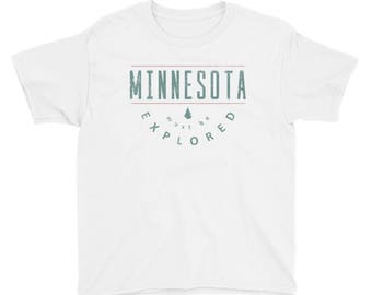 Minnesota Must Be Explored Funny MN State Gift Tee Kids/Youth Short Sleeve T-Shirt
