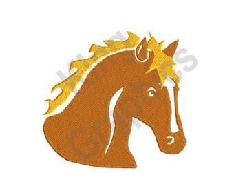 Horse - Machine Embroidery Design, Palomino