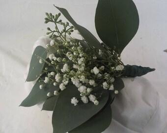 fresh seeded eucalyptus, gyp bouquet, Christmas Tree Decoration, Natural