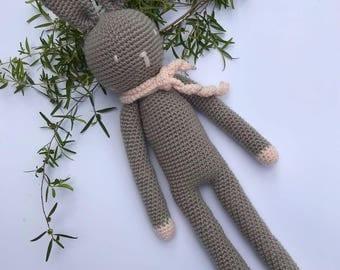 Amigurumi Bunny Rabbit, Handmade Crochet Bunny Rabbit, Baby Shower or Easter Gift