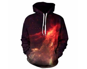 Galaxy Hoodie, Galaxy Sweatshirt, Galaxy, Galaxy Jumper, Galaxy Hoodies, Space, Space Hoodie, 3d Hoodie, 3d Hoodies, Hoodie - Style 2
