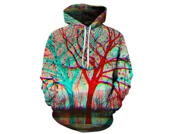 Tree Hoodie, Outdoor Hoodie, Tree Sweatshirt, Nature Hoodie, Art, Hoodie Art, Hoodie Pattern, Pattern Hoodie, Hoodie, 3d Hoodie - Style 6