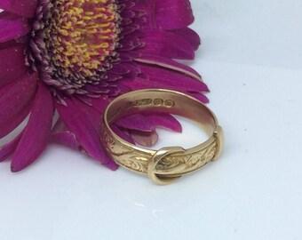 Gentlemans's  Vintage  gold buckle ring