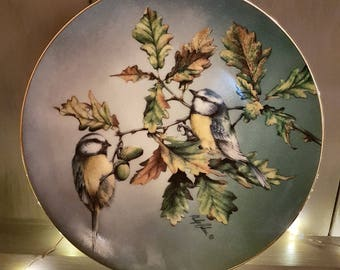The Hamilton Collection blue tit plate