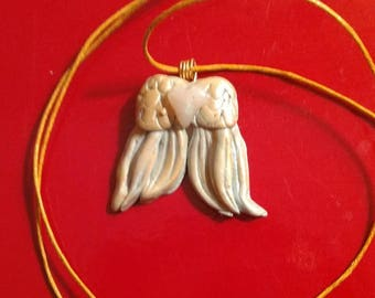 Angel Wings with Heart Pendant