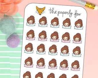 sleepy Lia- planner sticker L007