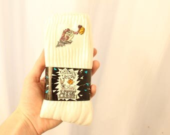 Vintage 1993 DSWT Embroidered Looney Tunes / Taz Socks - One Size