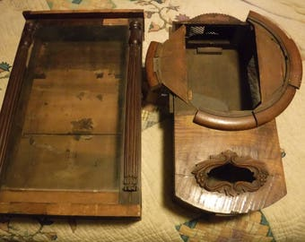 Two Antique  Clock Cabinets 1700's 1800s  with locking door