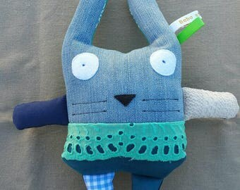 Teddy rabbit jean and green
