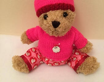Teddy Bear pink and red