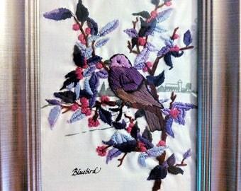 Blue Bird in Purple