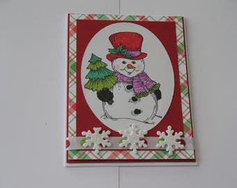 Sale Snowman Christmas Card