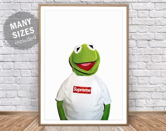 Kermit The Frog Supreme Print The Muppets Supreme Art Supreme Clothing Supreme Poster Kermit Puppet Kermit Poster Supreme Wall Decor