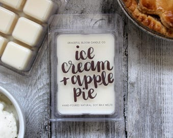 ICE CREAM & APPLE Pie Soy Wax Melts | Soy Wax Tarts | Wedding Favor | Apple Pie Scented |Non Toxic