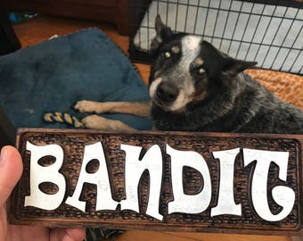 CNC Dog / Cat / Pet Kennel or Crate Sign - Custom