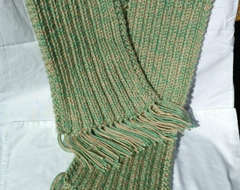 Knit Scarf - Mint and Cream