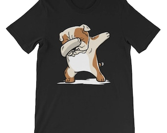 Cute English Bulldog Dog Dabbing T-Shirt Funny Dab Dance Gift Shirt