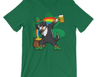 Funny Dabbing Leprechaun Bernese Mountain Dog T-Shirt, St Patricks Day Shirt