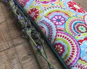 Microwavable Heating Pad - Eye Pillow - Bean Bag Warming Pad - Flax Seed Pad - Lavender Hot Pack - Peppermint Hot Pad - Aromatherapy Eye Pad