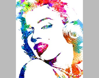 Instant download MARILYN MONROE, printable, poster w0061
