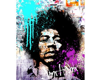 Instant download JIMI HENDRIX, printable, poster w0080