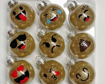 Emoji Christmas ornament