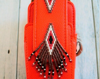 Native American style Iqos case (red)