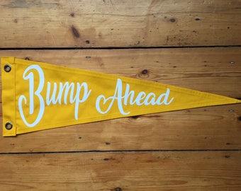 Bump Ahead Pennant Flag