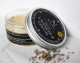 N A T U R A L | body scrub with lavender and lemon flavor | handmade | gift for mom | Christmas gift