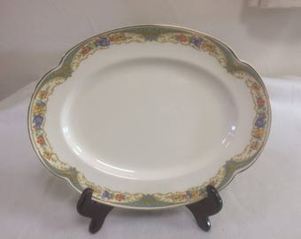 Vintage 10 1/2 inch Oval Platter in the Johnson Brothers Pareek Belfast Pattern