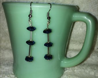 blue and sliver earrings