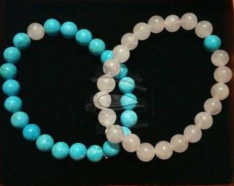 "Bracelets made of semi-precious stones ""Binôme"""