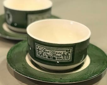 Colonial homestead by Royal cup and saucer