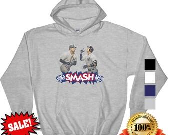 Aaron Judge and Giancarlo Stanton Super Smash Bros New York Yankees NYY Bronx Bombers Hoodie SHIPS FREE