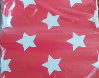 """10""""x 13"""" Designer Poly Mailers, Pink mailers, Red Stars Mailers, Flat Shipping, stars Mailing Bags, USPS, fashion bags, professional"""