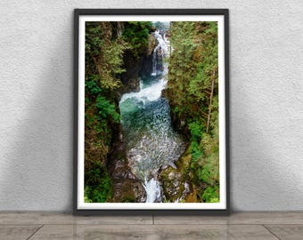 Lynn Canyon Print, Nature Photography, Printable Large Poster,  Instant Digital Download