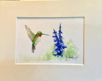 Original Hummingbird Watercolor